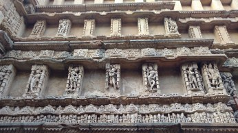 Exquisitely carved side wall of Rani ni vaav (photo by Mallika Iyer)