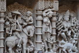Exquisitely sculptured panels on the walls of Rani ni Vav (photo by Subhash Rao Mallya).JPG